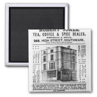 Advertisement for Robert Jones, Tea Square Magnet