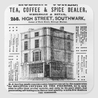 Advertisement for Robert Jones, Tea Square Stickers