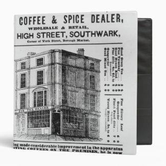 Advertisement for Robert Jones, Tea Vinyl Binder