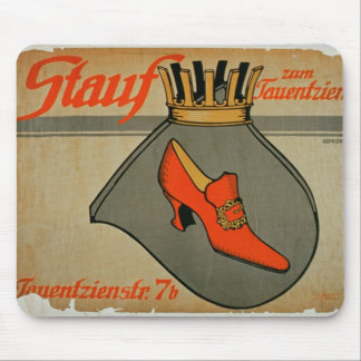 Advertisement for 'Stauf Shoes' (colour litho) Mouse Pad
