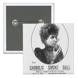 Advertisement for the Carbolic Smoke Ball 2 Inch Square Button