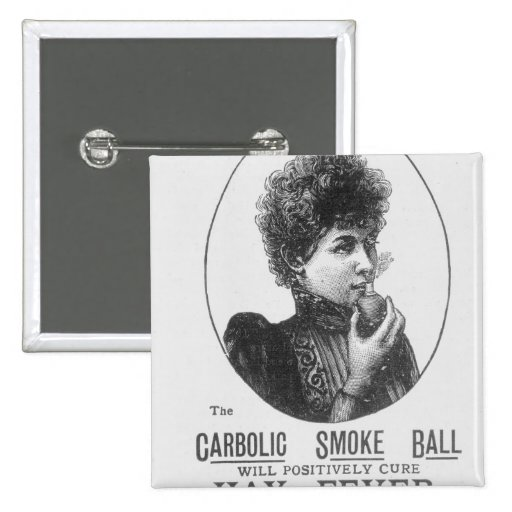 Advertisement for the Carbolic Smoke Ball Buttons