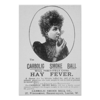 Advertisement for the Carbolic Smoke Ball Poster