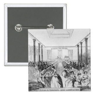 Advertisement for Thomson's Skirt Manufacture 2 Inch Square Button