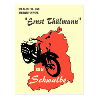 Advertisement GDR moped/scooter Postcard