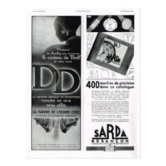 Advertisement, Sarda, Besançon Postcard