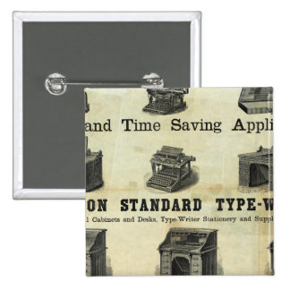 Advertisement with Guide Map 2 Inch Square Button