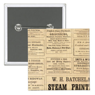 Advertisements for oil 2 inch square button