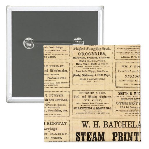 Advertisements for oil buttons