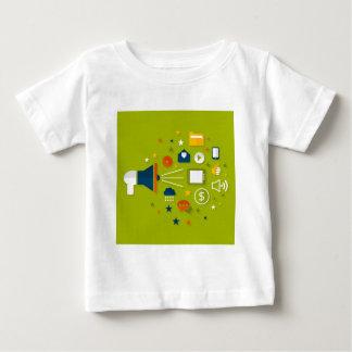 Advertising a megaphone baby T-Shirt