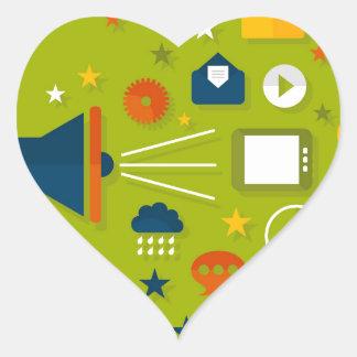 Advertising a megaphone heart sticker