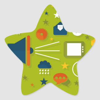 Advertising a megaphone star sticker