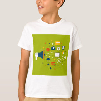 Advertising a megaphone T-Shirt