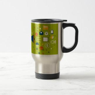 Advertising a megaphone travel mug