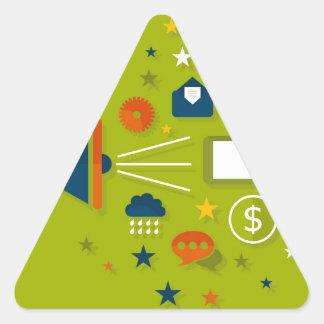 Advertising a megaphone triangle sticker