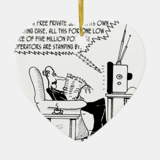 Advertising Cartoon 2133 Ceramic Ornament