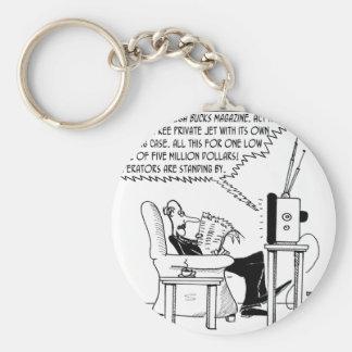 Advertising Cartoon 2133 Keychain