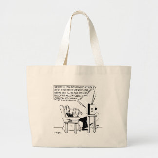 Advertising Cartoon 2133 Large Tote Bag