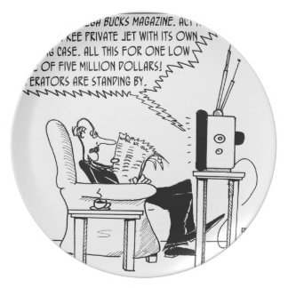 Advertising Cartoon 2133 Plate