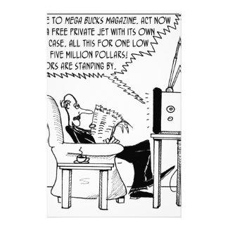 Advertising Cartoon 2133 Stationery