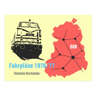 Advertising Design for timetable information Postcard