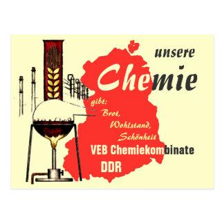 Advertising Design GDR chemistry Postcard