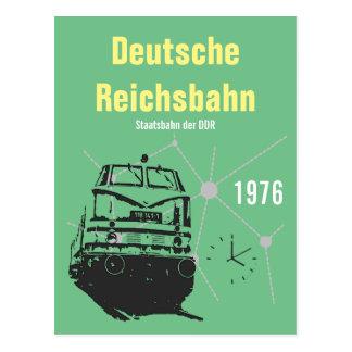 Advertising Design German National Railroad GDR Postcard