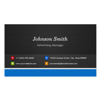 Advertising Manager - Professional Customizable Pack Of Standard Business Cards