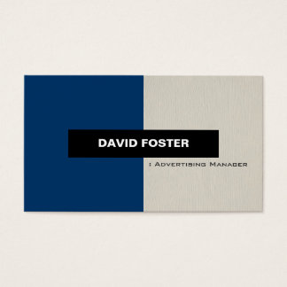 Advertising Manager - Simple Elegant Stylish Business Card