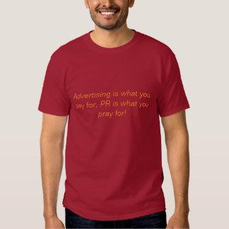 Advertising vs PR Shirts
