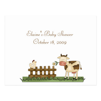 Advice Card Baby Shower Home Sweet Farm