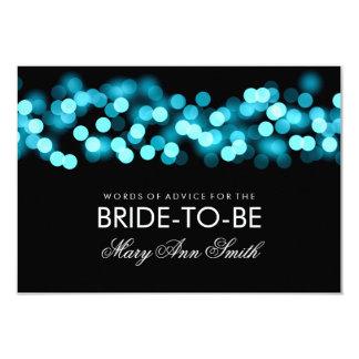 "Advice Card Bridal Shower Turquoise Hollywood Glam 3.5"" X 5"" Invitation Card"