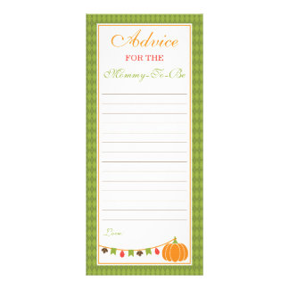 Advice Card for Mom-To-Be, Little Pumpkin