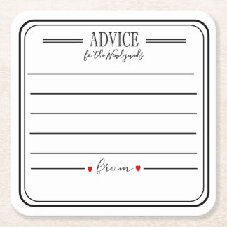Advice coaster  for any party personalised coaster