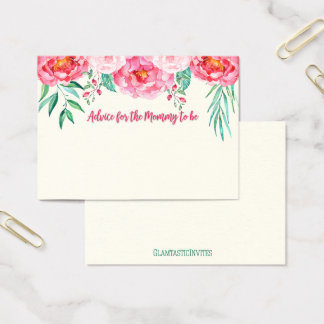 Advice for Mom Card, Mom-to-be, Floral Card