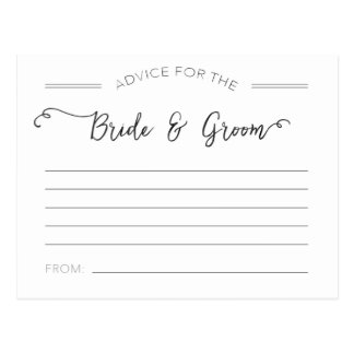 Advice for the Bride and Groom Cards