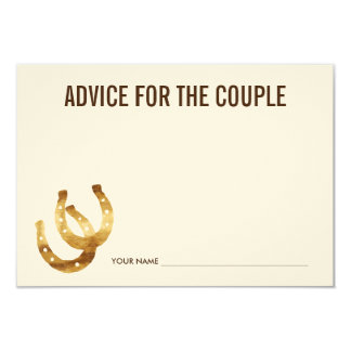 Advice for the Couple | Lucky in Love Horseshoe Card