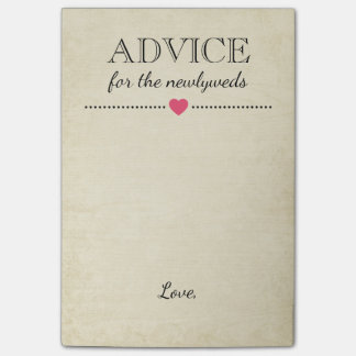 Advice For The Newlyweds Custom Notes