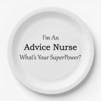 Advice Nurse Paper Plate