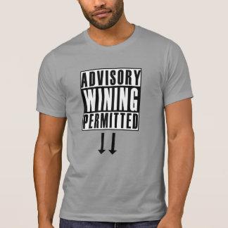 Advisory: Wining Permitted T-Shirt