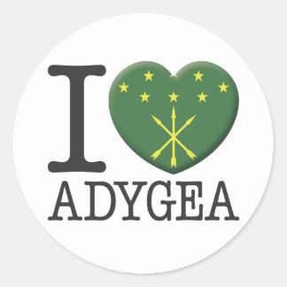 Adygea Classic Round Sticker