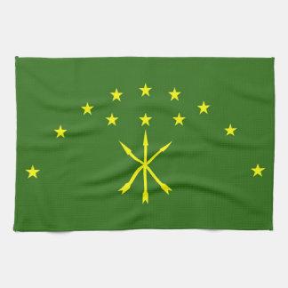 Adygea flag russia country republic region towel