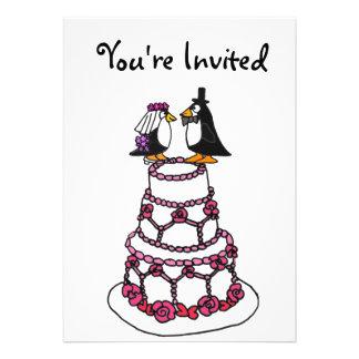 AE- Cartoon Penguins Bridal Shower Invitations