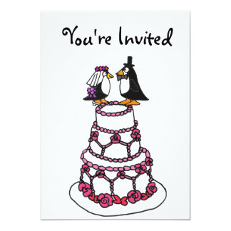 AE- Cartoon Penguins Bridal Shower Invitations