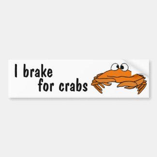 AE- I Brake for Crabs Bumper Stickers