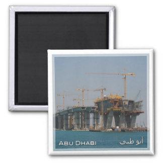 AE # United Arab Emirates Abu Dhabi - Bridge build Magnet
