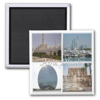 AE * United Arab Emirates - Abu Dhabi Square Magnet