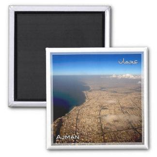 AE # United Arab Emirates - Ajman - city Square Magnet