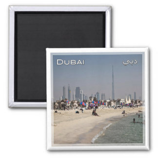 AE # United Arab Emirates Dubai - Beach in Jumeira Magnet