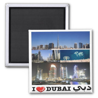 AE United Arab Emirates - Dubai - I Love - Collage Magnet